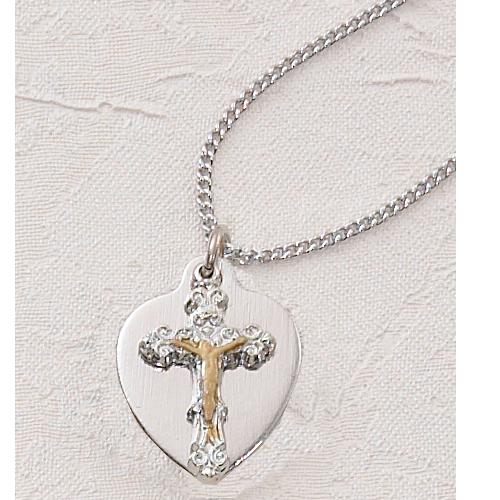 Crucifix Heart 16 Pendant