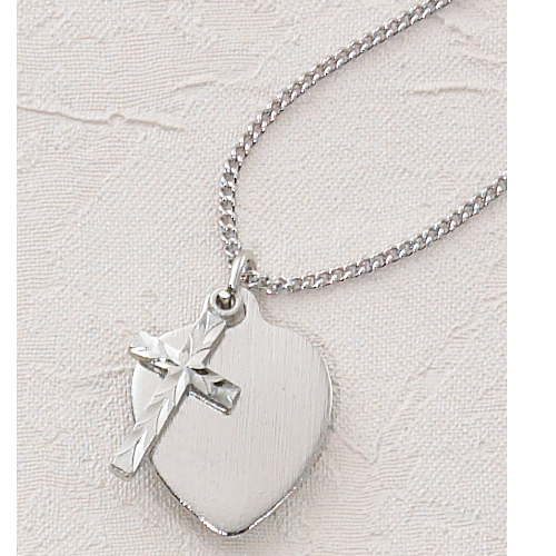 "18"" Cross Heart Pendant"