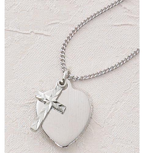 "18"" Cross Heart Pendant"
