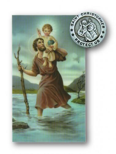 St. Christopher Pin/Prayer Card Set