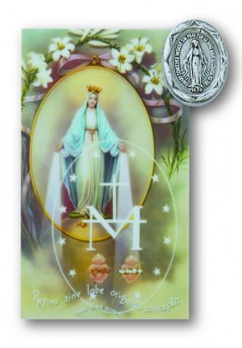 Miraculous Pin/Prayer Card Set