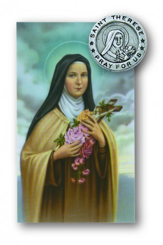 St Therese Pin/Prayer Card Set
