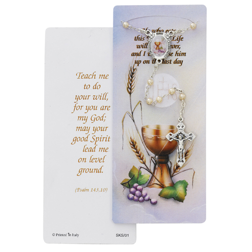 Pearl Communion Rosary With