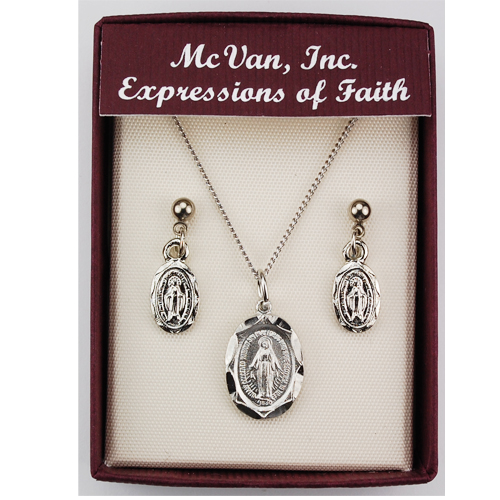 Rf Oval Miraculous Pendant And