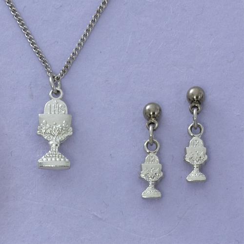 Chalice Pendant & Earring Set