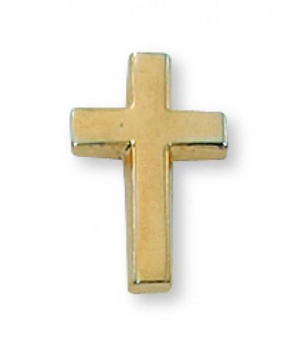Gold Cross Lapel Pin