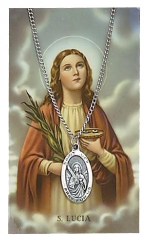 St Lucy Prayer Card Set