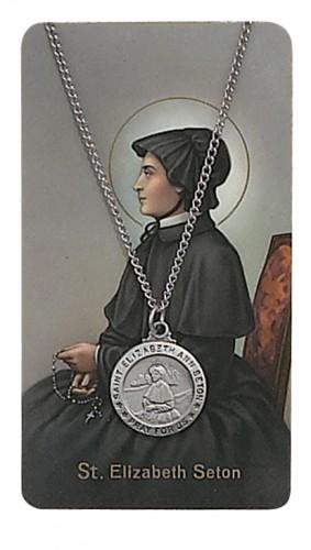 St Eliz Ann Seton Praycard Set