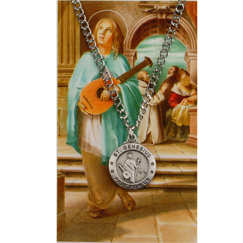 St Genesius Prayer Card Set