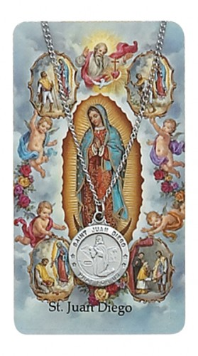 St Juan Diego Prayer Card Set