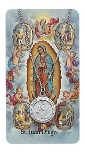 St Juan Diego Prayer Card Set