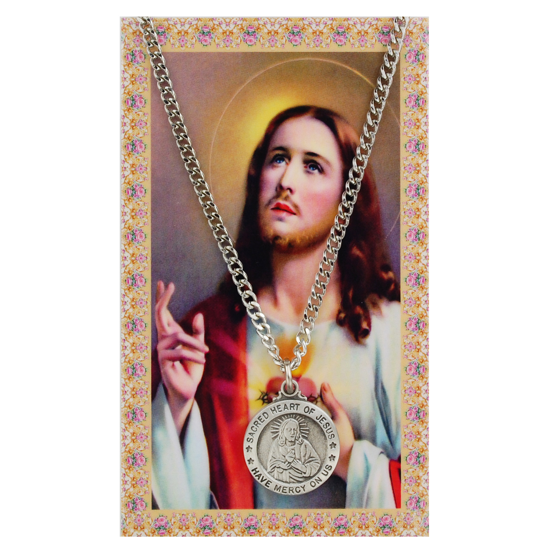 St Sacred Heart Prayer Card St
