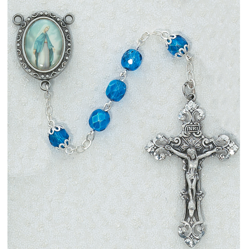 7MM BlueOur Lady of Grace Rosary