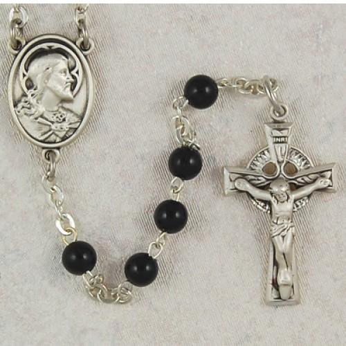 5MM Black Irish Rosary