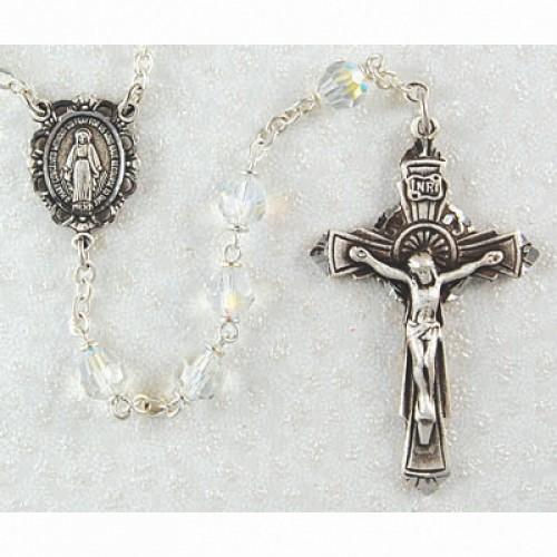 6MM Crystal Tin Cut Rosary