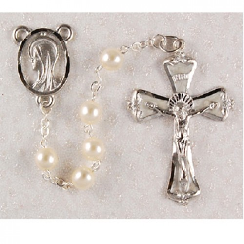 6MM Pearl Rosary