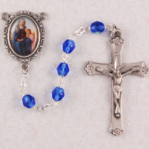 6MM Blue St. Anne Rosary