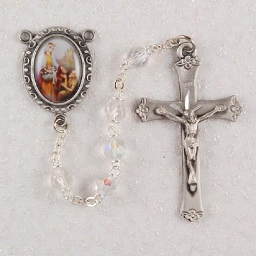 6MM Crystal St Elizabeth Rosary