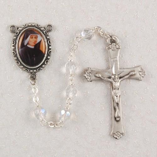 6MM Crystal St Faustina Rosary