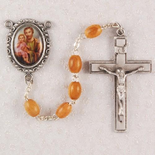 Olive Wood St. Joseph Rosary