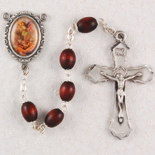 6X8MM Brown St. Michael Rosary