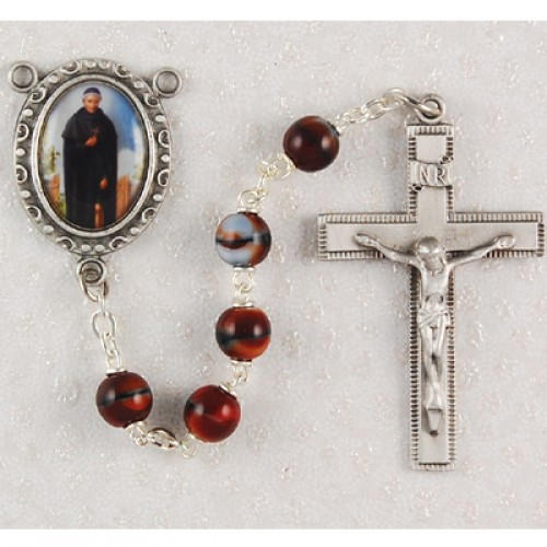 7MM Red St. Peregrine Rosary