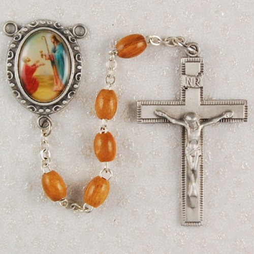 Olive Wood St. Peter Rosary