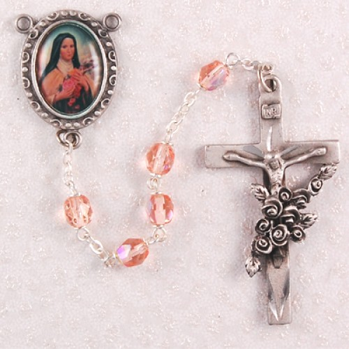 6MM Rose St. Therese Rosary