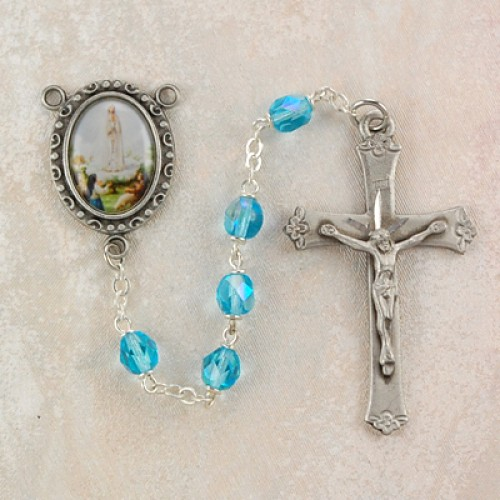 6MM AquaOur Lady of Fatima Rosary