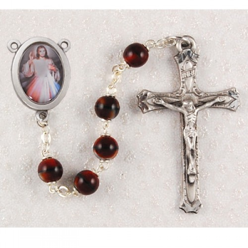 7MM Red Divine Mercy Rosary