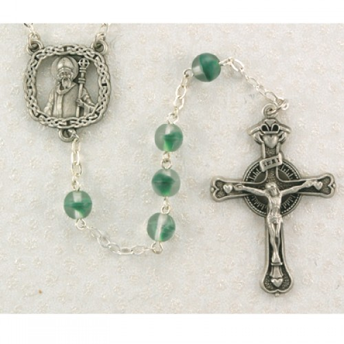 7MM Green St Patrick Rosary