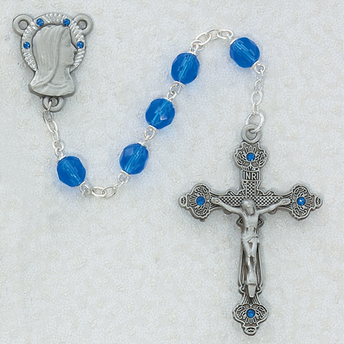 7MM Blue Rosary