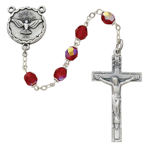 6MM Red Holy Spirit Rosary
