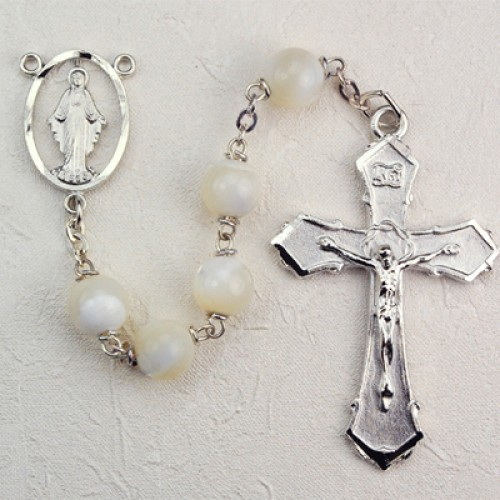 8MM Mother Of Pearl Rosary