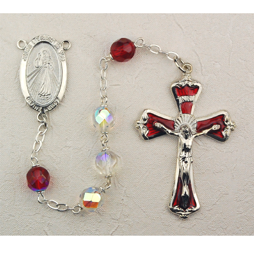 7MM Crystal Divine Mercy Rosary