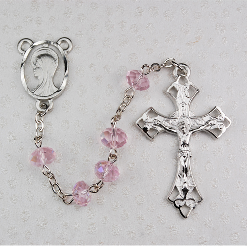 8MM Pink Rosary