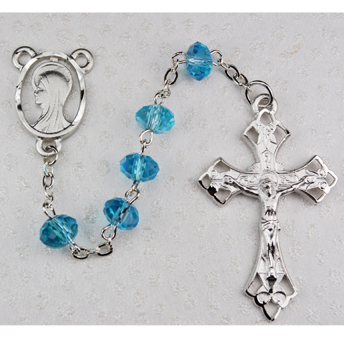 8MM Aqua  Rosary
