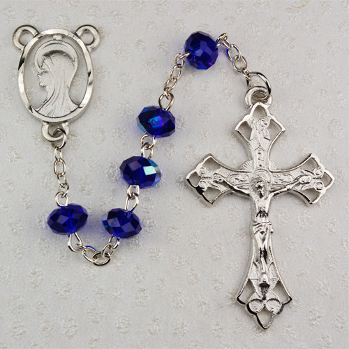 8MM Dark Blue Rosary