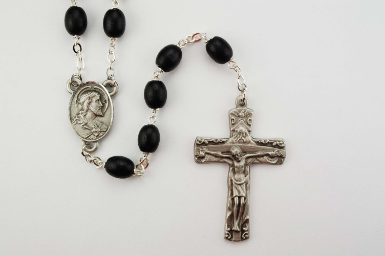 Black Wood Trinity Rosary