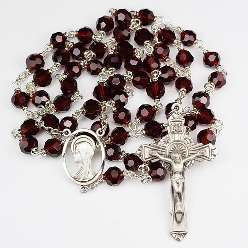 7MM Garnet Tincut Rosary