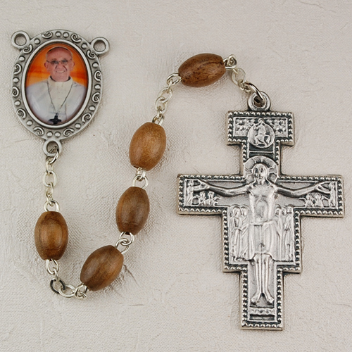 Pewt Olive Wood Pope Francis R
