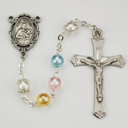 6MM Multi Pearl St Gerard Rosary