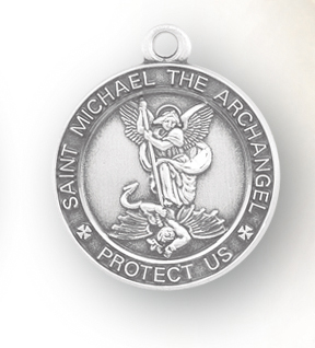 Sterling Silver Oval St. Michael Medal