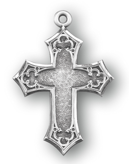 "1 1/2"" Sterling Silver Cross with 24"" Chain"