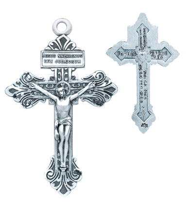 "1 1/4"" Sterling Silver Pardon Crucifix with 24"" Chain"