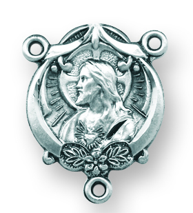 Sterling Silver Scapular Rosary Center