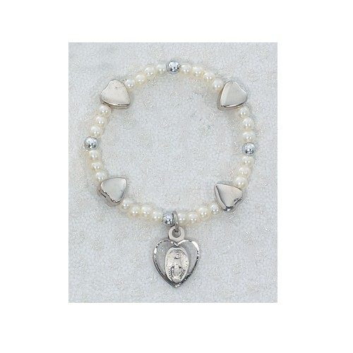 Sterling Silver Baby Heart Stretch Bracelet