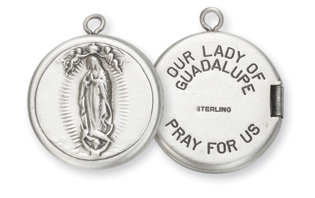 Sterling Silver Our Lady of Guadalupe Locket
