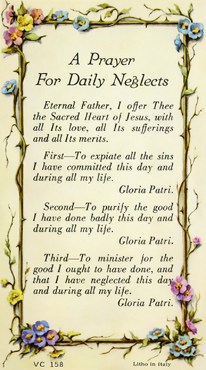 100-Pack - A Prayer For Daily Neglects Verse Card
