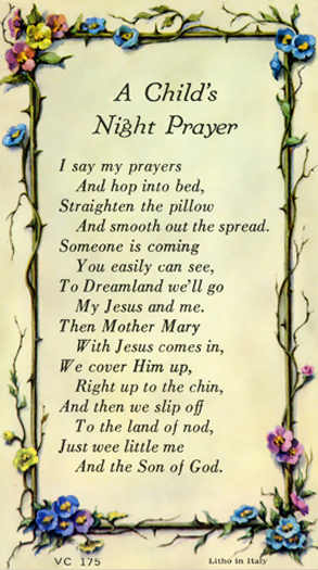 100-Pack - A Child'S Night Prayer Verse Card